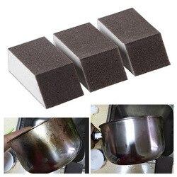 1 pçs esponja mágica escova de alumina emery esponja ferrugem manchas de sujeira escova limpa tigela vaso de lavagem casa cozinha escova de limpeza