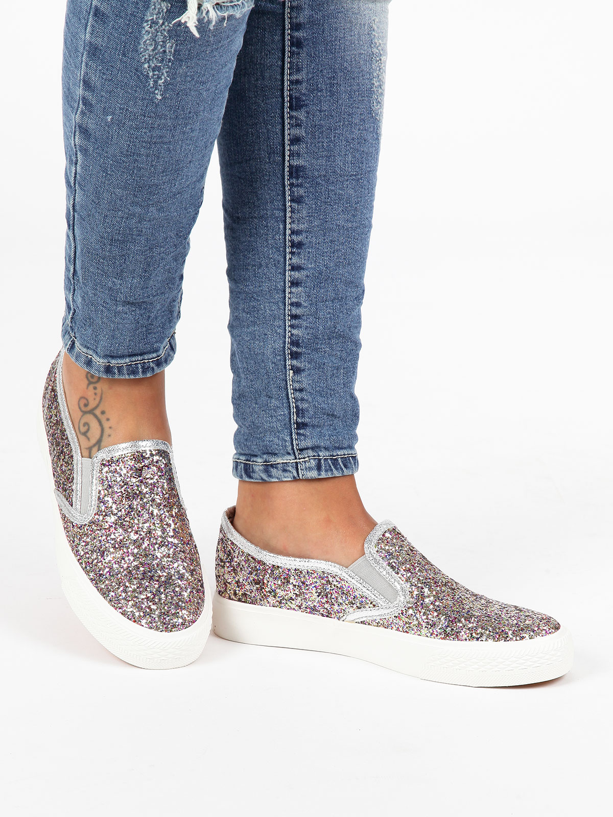 SOLADA Loafers With Glitter Colorful