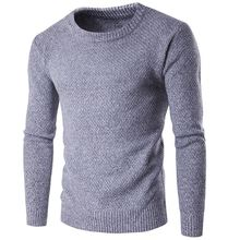 2017 New Autumn Winter Brand Casual Sweaters Round Neck Long Sleeve Plain Slim Fit Knitting Sweater Pullover Male Wool Knitwear