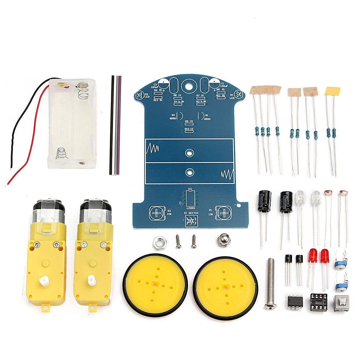 Hot New DIY Smart Tracking Robot Car Electronic Kit With Reduction Motor Set