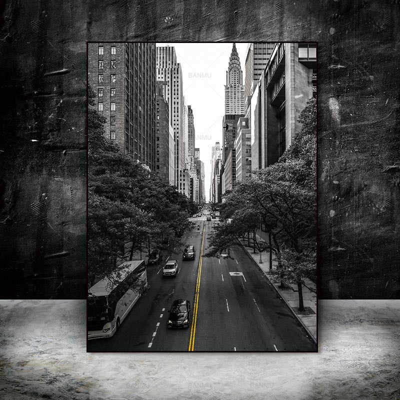 Pictures decoration for living room Canvas painting Wall poster home decor print Urban landscape on Canvas wall picture no frame