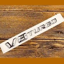 car accessories 3D ABS plating V8 TURBO letter sticker for Benz AMG car Badge Sticker Car Emblem trunk emblem sticker стоимость