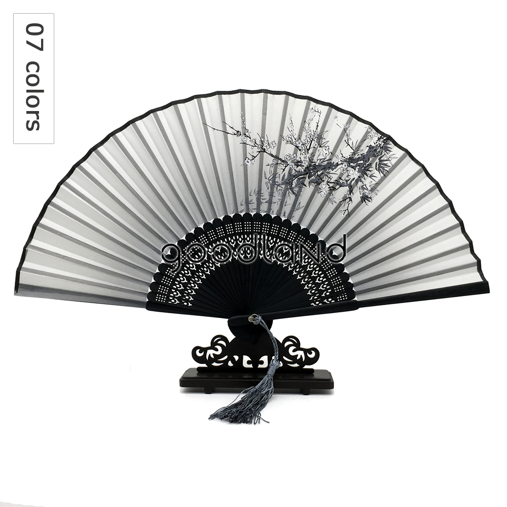 Free Shipping Wholesale 50pcslot Flower Folding Pocket Hand Fan