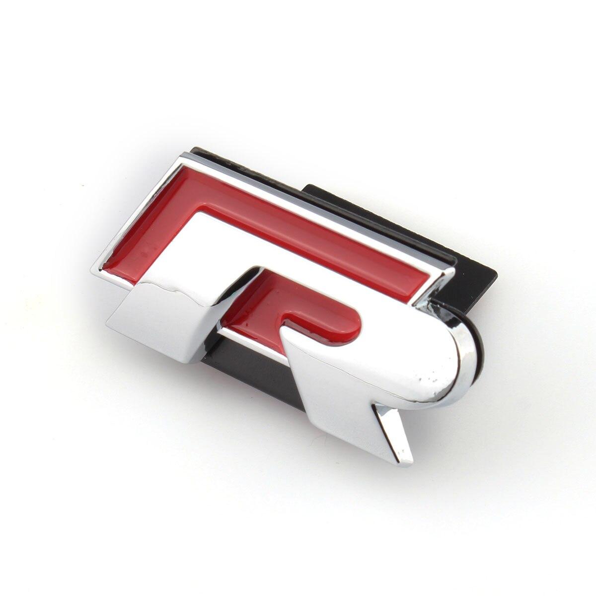 الجبهة كروم الأحمر R خط شارة ملصق مائي شواء شعار شعار ملصق معدني لشركة فولكس فاجن جولف جيتا باسات