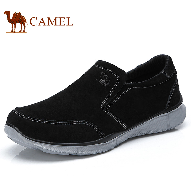 CAMEL New Slip on Outdoor Men Casual Shoes Suede Lightweight Walking Flexible Comfortable Daily Male Shoe zapatos mocasin hombre