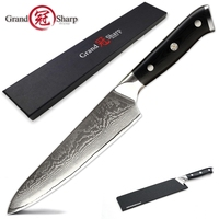 Damascus Chef Knife vg10 Japanese Damascus Steel Japanese Kiritsuke Boning Paring Kitchen Knives Butcher Cooking Tools Gift Box