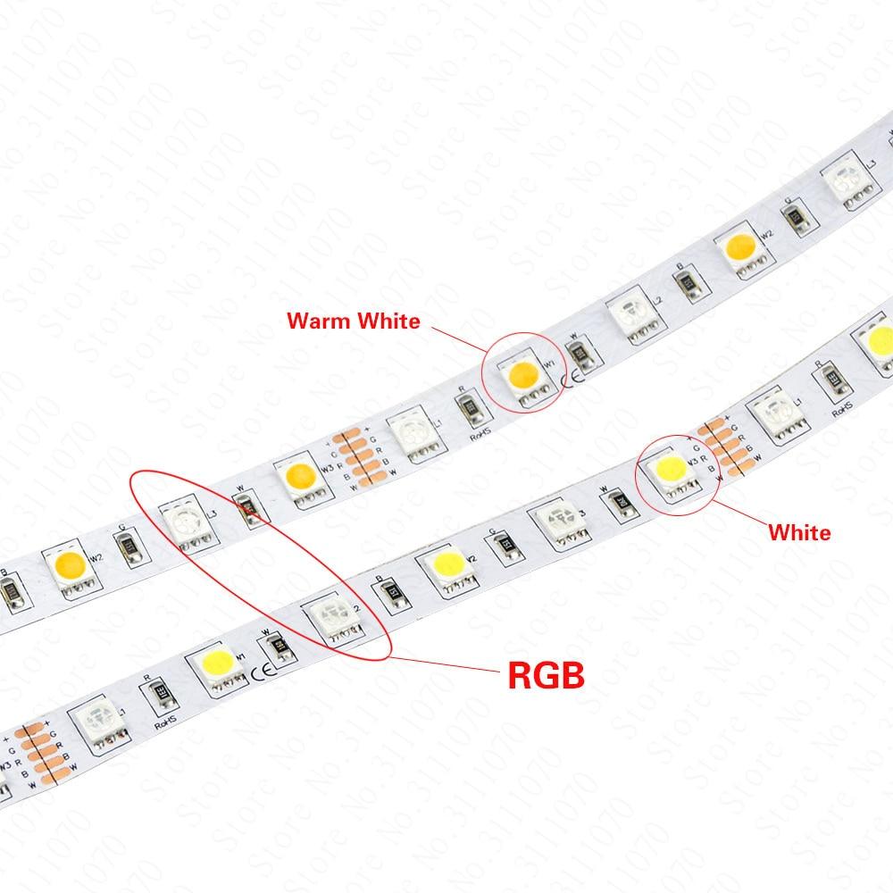 Tiras de Led 5050 rgbw tira conduzida dc12v Número Led/m : 60