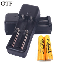 Multifunctional Dual Double Battery Charger 18650 16340 CR123A Smart Black
