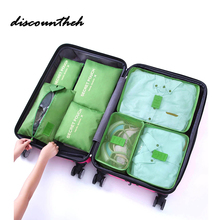 New Arrival 7 Pcs/set Waterproof Travel Bag Set Travel Suitcase Packing Clothes Shoe Bags For Travel