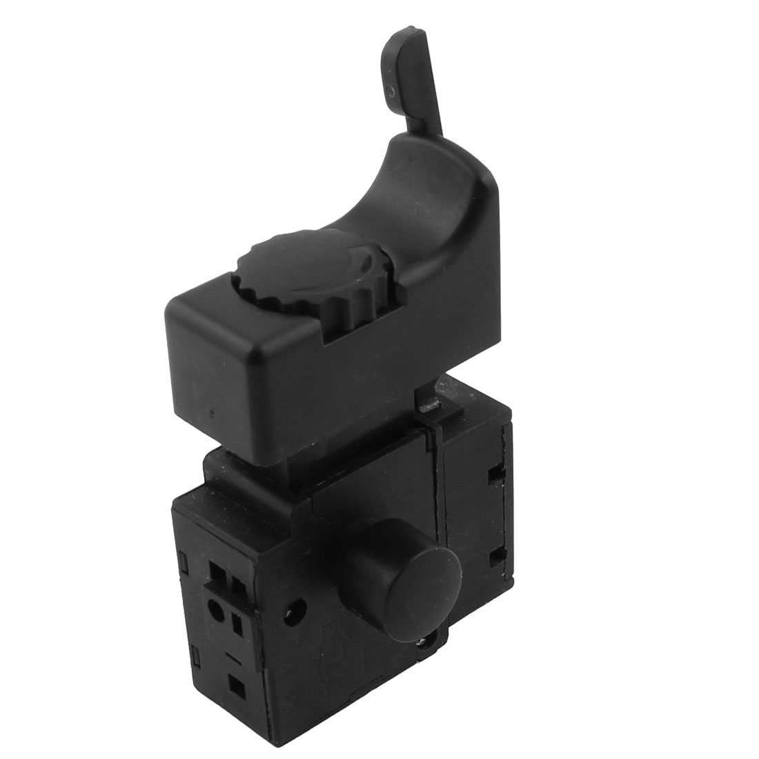 UXCELL Fa2-6/1Bek Ac 250V 6A Locking Electric Drill Speed Control Trigger Switch Black switch | trigger ac 250v 20a normal close 60c temperature control switch bimetal thermostat