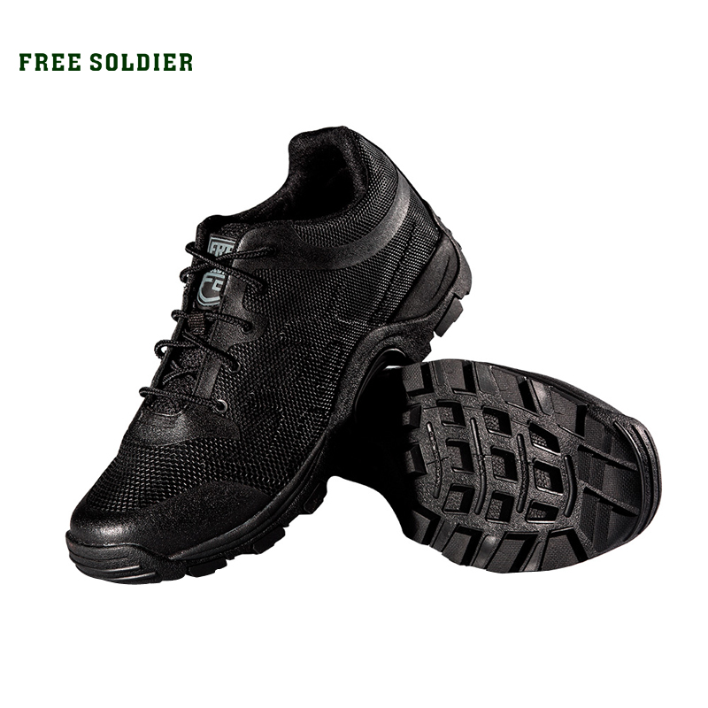FREE SOLDIEROutdoor Sports Hiking Camping Tactical Men's Shoes For Walking Non-slip Breathable Shoe qpq hot sale 2017 fashion flats women trainers breathable mesh woman shoes casual increased walking women flats zapatillas mujer