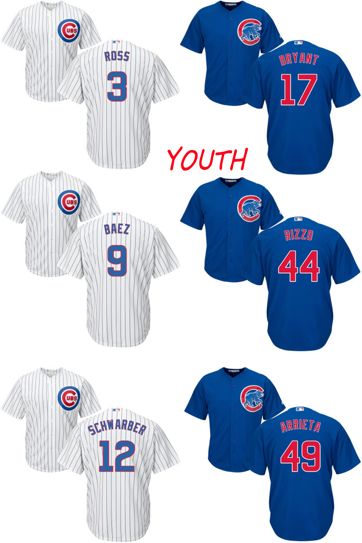 buy popular edf54 b4d23 Buy chicago cubs schwarber and get free shipping on ...