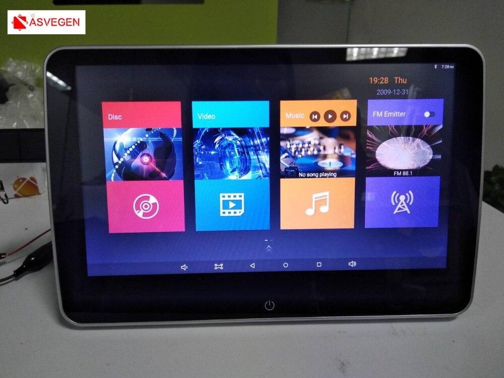 Asvegen Новый 10 HD цифровой ЖК дисплей Экран подголовник автомобиля монитор DVD USB SD плеер ИК/SPK с удаленным пульт дистанционного управления крепё