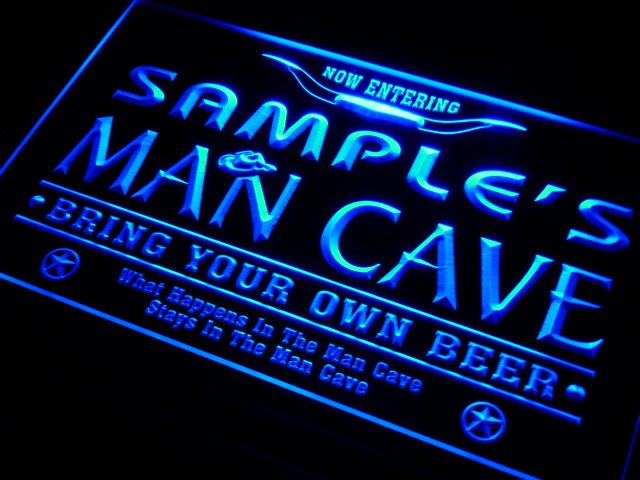 pb tm Name Personalized Custom Man Cave Beer Bar Neon Light Sign