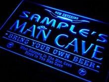 Pb-тм Имя персонализированные пользовательские человек пещера пивной бар Неоновый свет знак