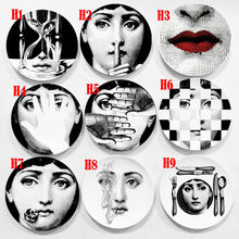 8 Inch Fornasetti Plates Home Decoration Christmas Dinner Plate Decorative Wall Dishes China