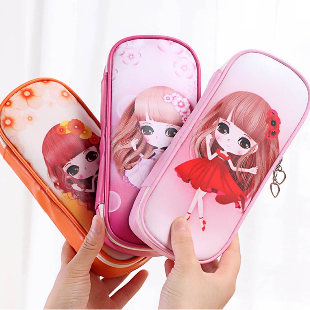 2018 New Fashion Student Stationery Pencil Case School Supplies Children Kawaii Gifts Pencil Bag For Boys And Girls