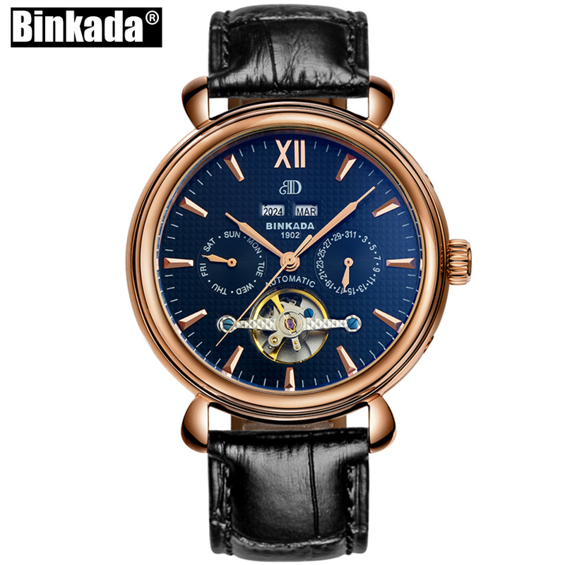 Luxury Men Mechanical Watch Large Size BINKADA Automatic Watches Sport Casual Men Wristwatch Business Skeleton Toubillion WatchLuxury Men Mechanical Watch Large Size BINKADA Automatic Watches Sport Casual Men Wristwatch Business Skeleton Toubillion Watch