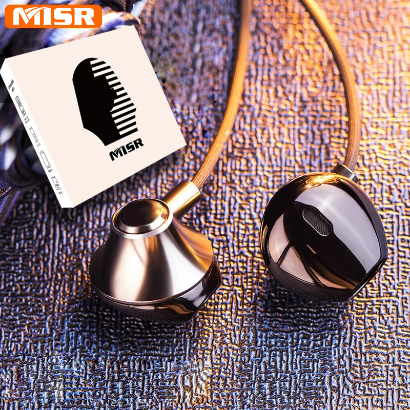 MISR P25 Metal Wired Earphones for Iphone Samsung Huawei Xiaomi with Mic Microphone for Phone In-Ear Headsets Stereo Earbuds