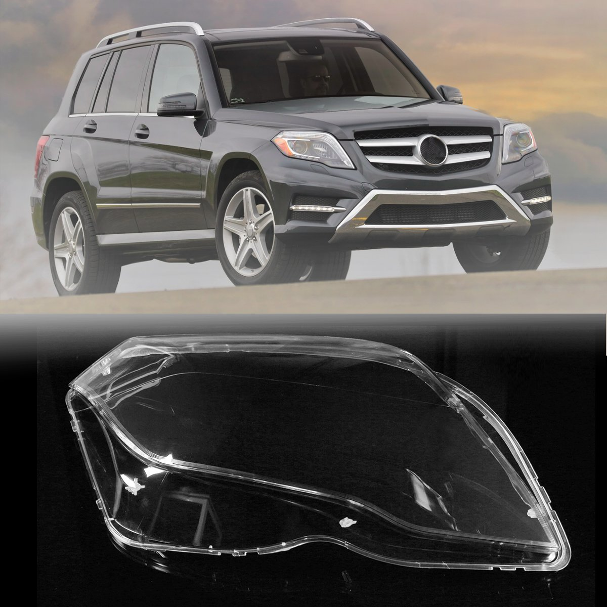 New Clear Plastic Front Right Headlamp Headlight Cover For Mercedes/Benz GLK 2013 2014 2015 black rear trunk security shade cargo cover for mercedes benz glk class x204 20082009 2010 2011 2012 2013 2014 2015