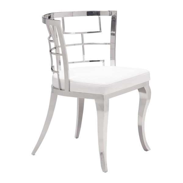 Quince Dining Chair White (Set of 2) helix dining chair anti black gold set of 2