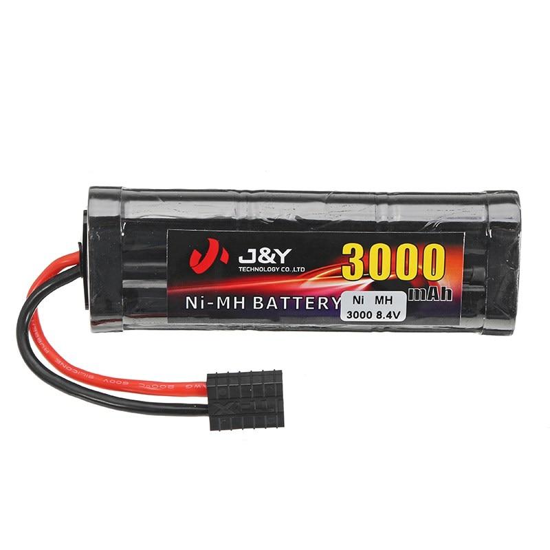 цена на High Quality J&Y 8.4V 3000mAh NiMH Rechargeable Lipo Battery Pack For TRX Plug for Traxxas RC Car
