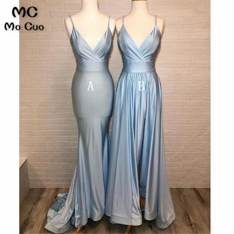 Simple Ready Ship Bridesmaid Dress With AB Design Pleat Wedding Party Dress Shiny Satin Women Bridesmaid Dresses