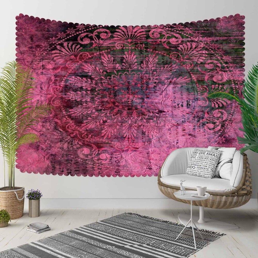 Autre Damson rétro turc Ottoman Design authentique impression 3D décorative Hippi bohème tenture murale paysage tapisserie mur Art