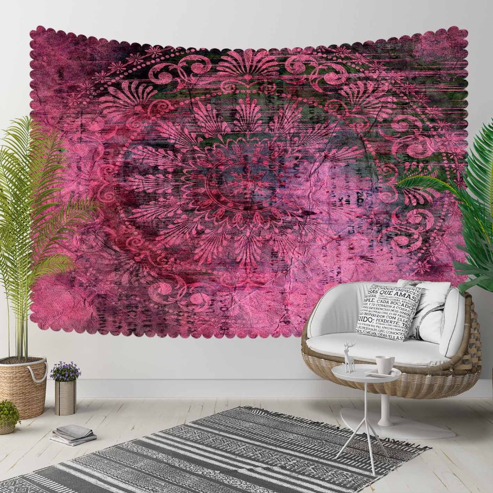 Else Damson Retro Turkish Ottoman Authentic Design 3D Print Decorative Hippi Bohemian Wall Hanging Landscape Tapestry Wall Art
