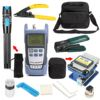 16 PCS Fiber Optic FTTH Tool Kit With FC 6S Fiber Cleaver And Optical Power Meter