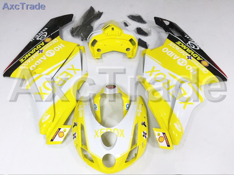 Комплекты для мотоциклов Обтекатели для Ducati 749 999 2003 2004 03 04 АБС впрыска Обтекателя кузова комплект желтый черный A488