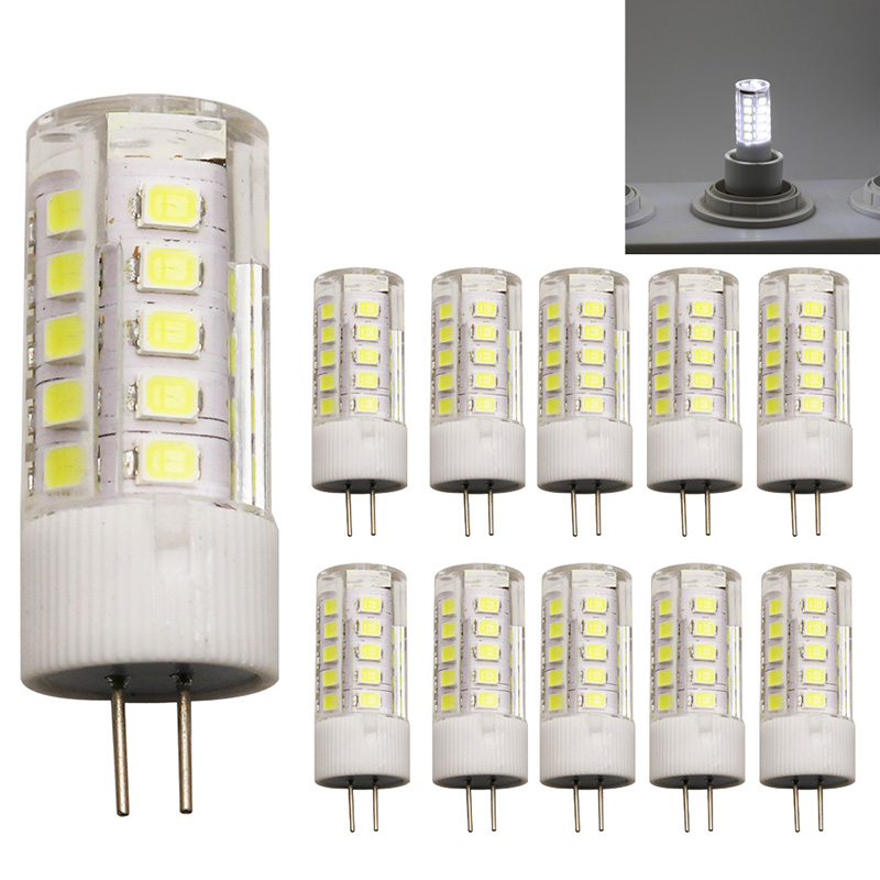 10x Ceramic LED Bulb G4 SMD 2835 LED lamp 3W Light AC220V AC220V light 360 degree Cold White
