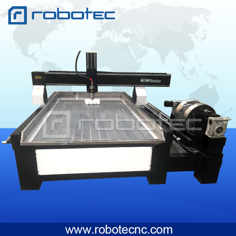 Robotec 4*8 Ft Rotary Cnc Router 4 Axis/rotary Axis 4axis Cnc Router 1325 For Stone Metal Aluminum