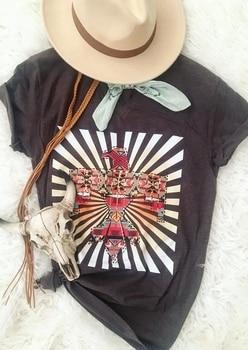 New Fashion Women T-Shirt Summer Short Sleeve Bird Striped Detail Print Black V-Neck Female Casual T-Shirt Ladies Tops Tee