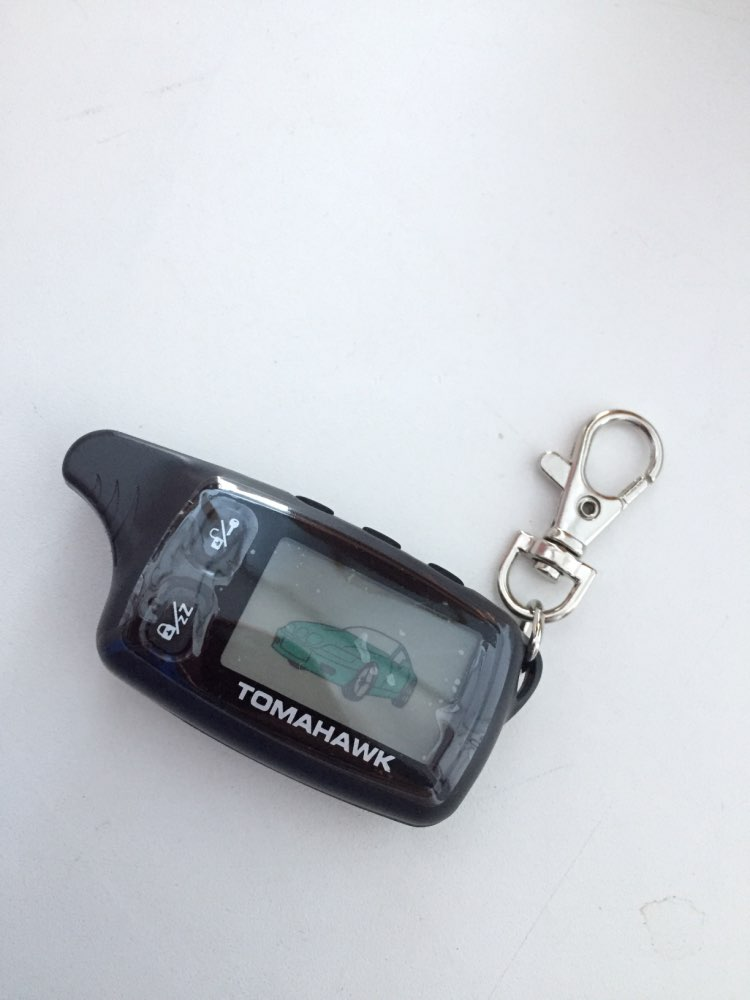 TW-9030 LCD Remote Controller Keychain Key Fob Chain for Russian TW 9030 Two Way Car Alarm System Tomahawk TW9030