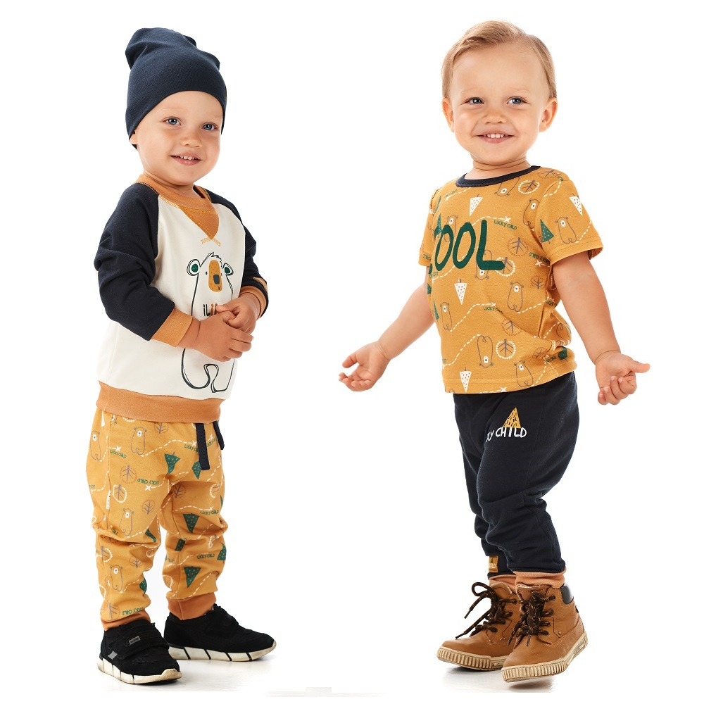 Pants & Capris Lucky Child for boys 63-11f winter holidays Leggings Hot Children clothes