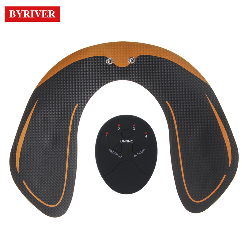 Купить с кэшбэком BYRIVER 2018 New EMS Hip Muscle Stimulator Trainer Lifter Firm Push Up Buttock Electric Vibrating Lifting Tens Massager Machine