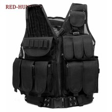 Outdoor Hunting Body Armor Swat Combat Wargame Black Vest Men's Black Military Tactical Army Molle Hunting Gear Vest(China)