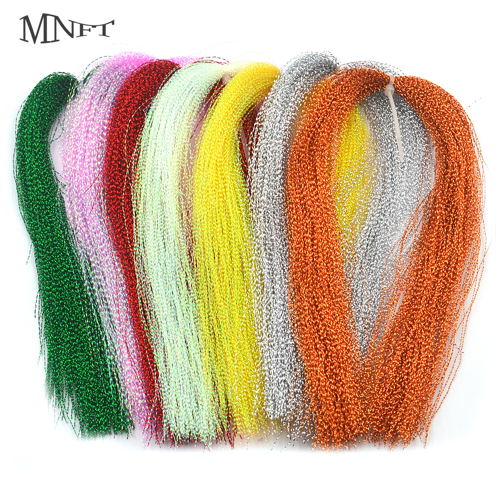 MNFT 3 Packs Flashabou Holographic Tinsel Fly Fishing Tying Crystal Flash String Jig Hook Lure Making Twisted Strands Material 32 bags fly tying material crystal flash holographic fishing lure tying making 32 colors 150pcs bag free shipping