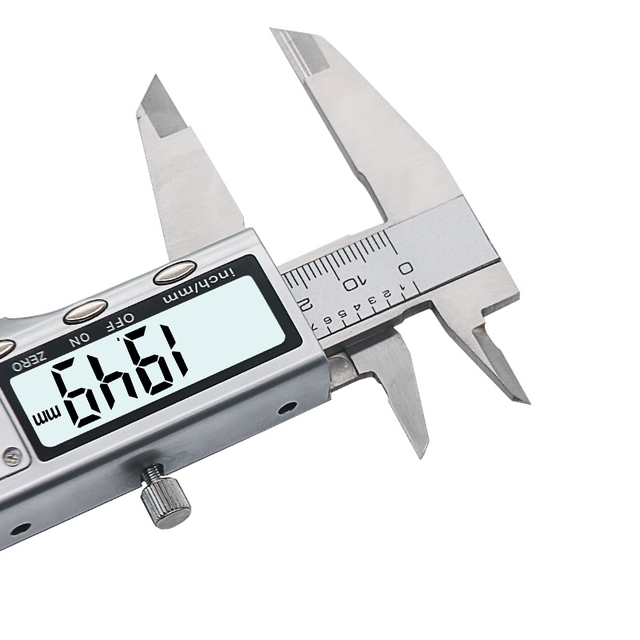 Digital Vernier Caliper - Stainless Steel Construction 6-Inch 150mm Electronic Micrometer Measuring Tool 1