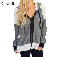 Giraffita Womens Hoodies Overcoat Autumn Winter Warm Fleece Coat Zip Up Outerwear Hooded Sweatshirts Long Jacket Plus Size