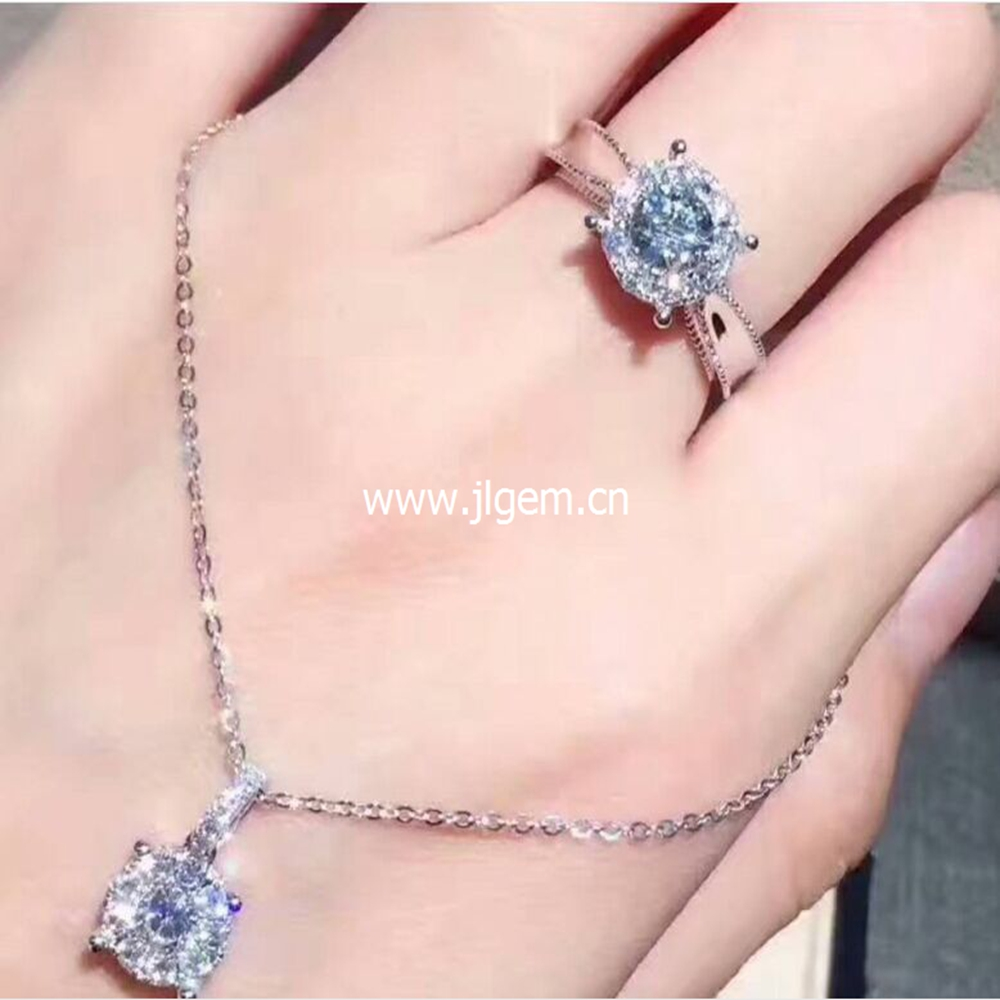 925 sterling silverLuxury Crystal Rings For Women Engagement Wedding ...
