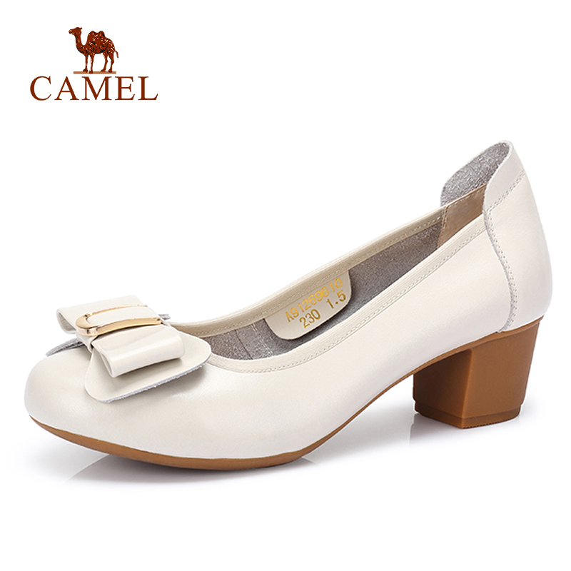 CAMEL New Women Casual Med Single Shoes For Leadies Genuine Leather Comfort Pumps Elegant Leisure Dress