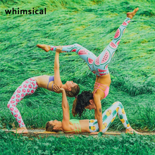 Whimsical 3D Fruit Printed Yoga Pants Women Widen Waist Dance Fitness Leggings Anti-sweat Compression Sport Tights Yoga Sports