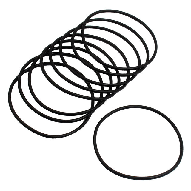 60 Pcs 38mm x 4mm Rubber Sealing Washers Oil Filter O Rings Black