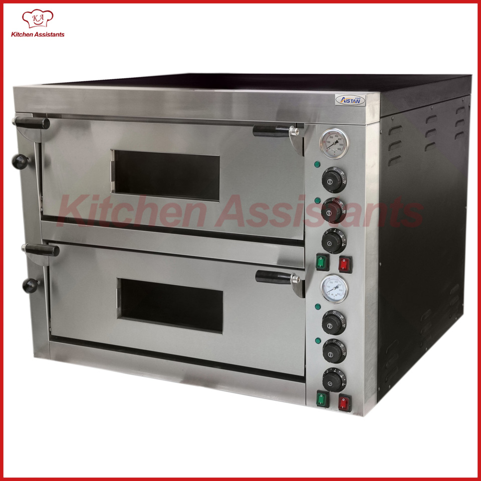 EP12T Stainless Steel Baking Oven Commercial Electric Pizza Oven With 2 Deck цена и фото