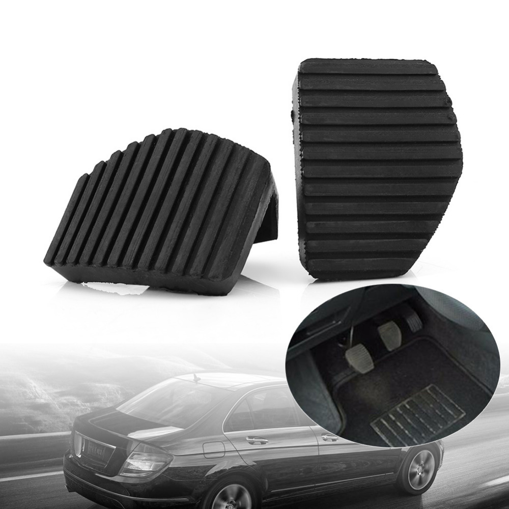 Car-Styling 2Pcs Clutch Brake Pedal Rubber Cover For Peugeot/Citroen 1007 207 208 301 C3 C4 C5 C6 C8 full cover right hand steering rhd waterproof carpets durable special car floor mats for citroen c4 c5 c6 c3 xr c2 c3 most model