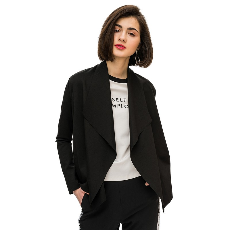 Jackets jacket befree for female  coat long sleeve women clothes apparel  spring 1811336609-50 TmallFS shawl collar long sleeve one button cardigan