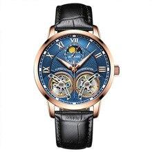 AILANG tourbillon mecánico automático marca de relojes de los hombres del ejército de la manera caliente deportes impermeable reloj luminoso reloj de acero llena de lujo