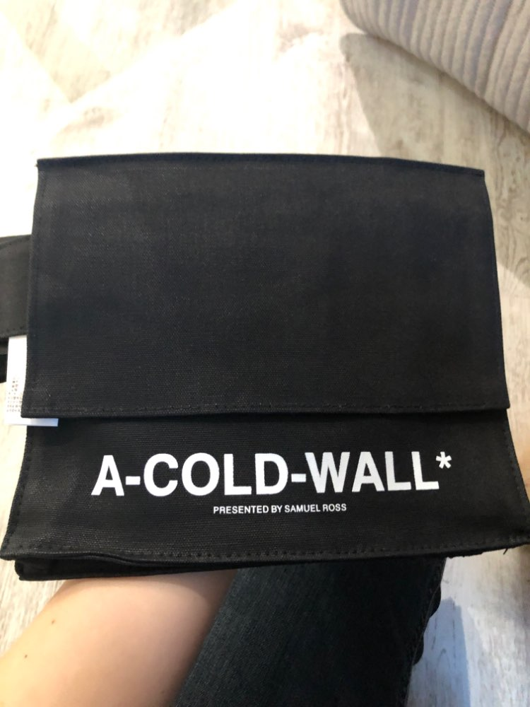 Waist bag women Fanny Pack bags luxury brand clear transparent a cold wall ACW canvas crossbody bag photo review